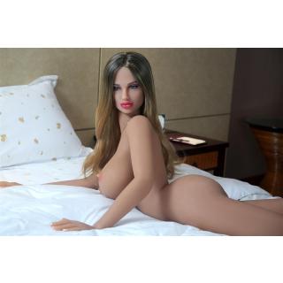 Lina Luxurious Sexdoll TPE Silicone Lifelike 158cm tall