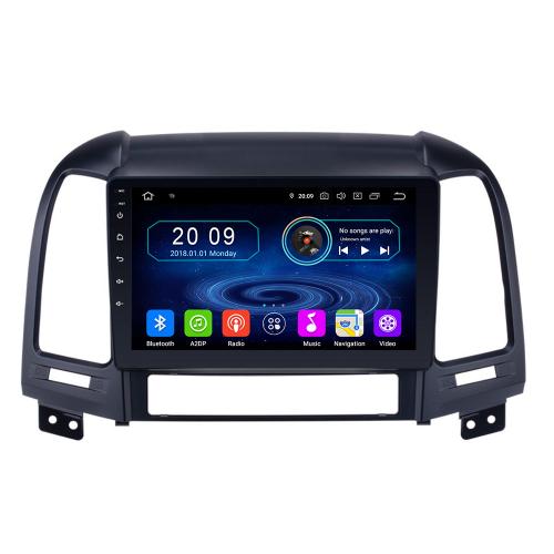 "9"" Touchscreen Android Head Unit GPS Navi CarPlay Bluetooth for Hyundai Santa Fe"