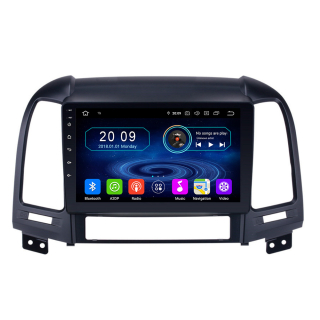 "9"" Touchscreen Android Autoradio GPS Navigation Bluetooth für  Hyundai Santa Fe"